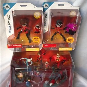 Brand New Incredibles 2 Deluxe Figurine Set